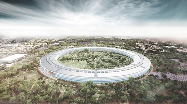 Google verse 100 millions de dollars pour des bureaux à Mountain View -Futur campus d'Apple