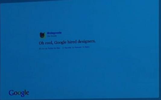Les interfaces de Google vont encore évoluer ? Bientôt la fin de la barre noire ? - Tweet sur le nouveau design de Google