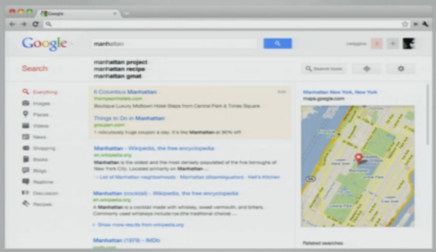 Les interfaces de Google vont encore évoluer ? Bientôt la fin de la barre noire ? - Nouvelle interface dans GSearch