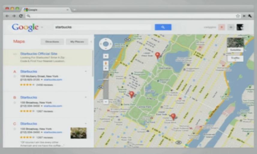 Les interfaces de Google vont encore évoluer ? Bientôt la fin de la barre noire ? - Nouvelle interface dans GMaps