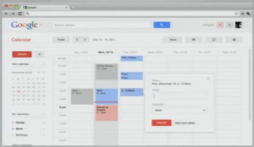 Les interfaces de Google vont encore évoluer ? Bientôt la fin de la barre noire ? - Nouvelle interface dans GAgenda