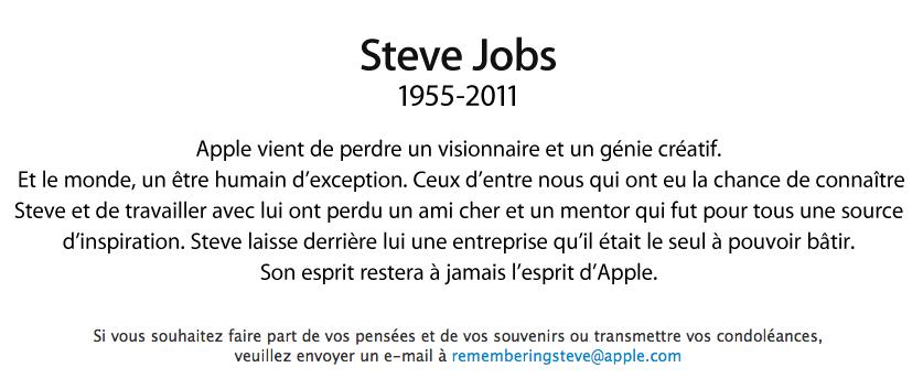 Nos souvenirs de Steve Jobs...
