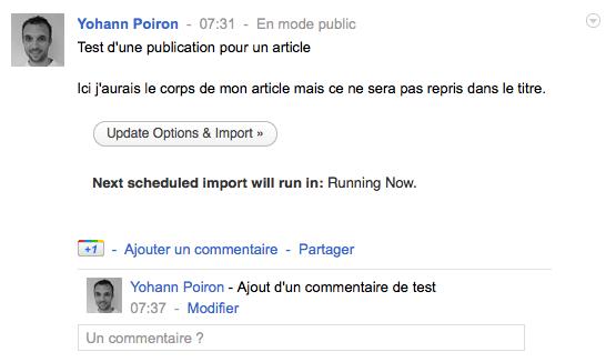 Partager vos publications Google+ sur votre blog WordPress avec ce plugin - Publication Google+