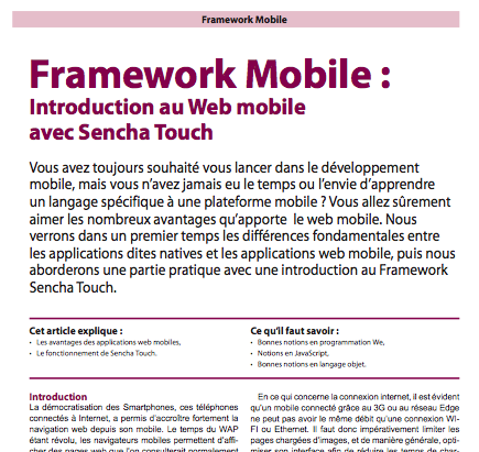 PHP Solutions : Hors-Série - Vos projets à partir de Frameworks - Article du BlogNT