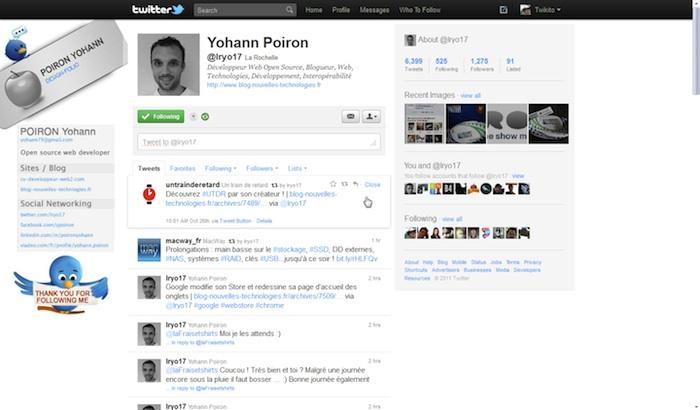 Twitter revisite sa Timeline ! - Détails d'un tweet lors du clic