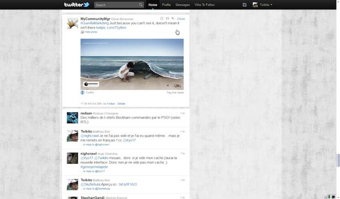Twitter revisite sa Timeline ! - Tweet avec une image venant de Twipic