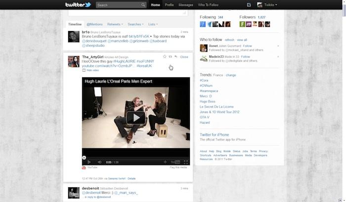Twitter revisite sa Timeline ! - Tweet avec une vidéo