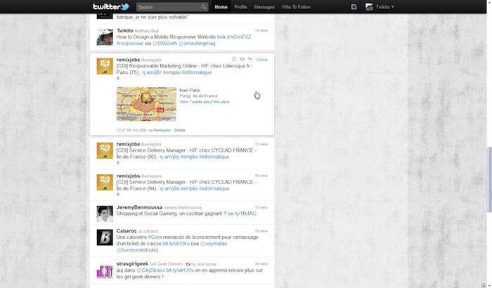 Twitter revisite sa Timeline ! - Tweet avec une location