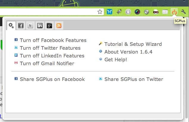 3 extensions Google Chrome indispensables pour partager sur Google+, Facebook et Twitter - Configuration SGPlus