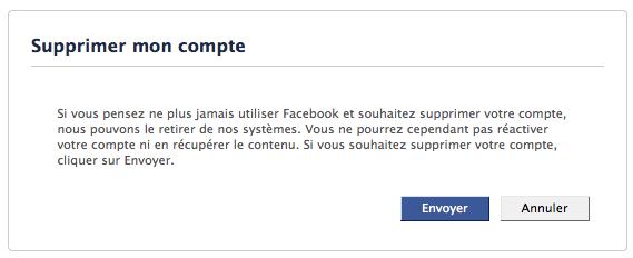 Comment désactiver et supprimer définitivement votre compte Facebook - Suppression définitive du compte