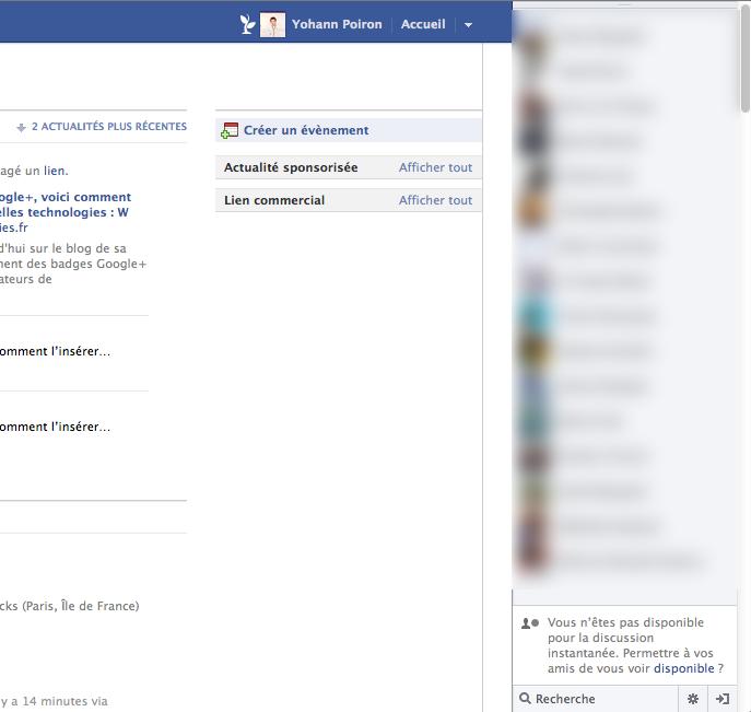 Comment faire pour supprimer le 'Ticker' de Facebook - Suppression du 'Ticker' de Facebook