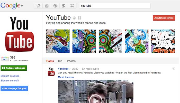 Comment Google va se servir de ses pages Google+ ! - Page Google+ Youtube