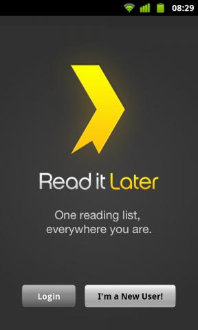 Découvrez Read It Later, une autre façon de gérer votre veille... - Enregistrement d'un compte