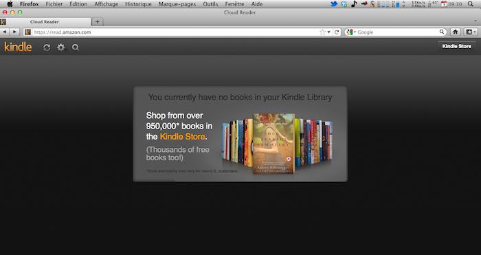 En seulement deux mois, Amazon Kindle Cloud Reader obtient l'appui de Firefox - Kindle Cloud Reader sur Firefox