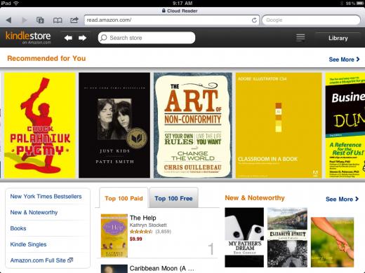 En seulement deux mois, Amazon Kindle Cloud Reader obtient l'appui de Firefox - Accès au store Amazon