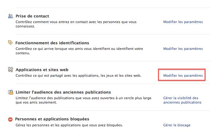 Google est désormais capable de récupérer tous les commentaires des sites Web... un réel danger ? - Paramètres de confidentialité Facebook