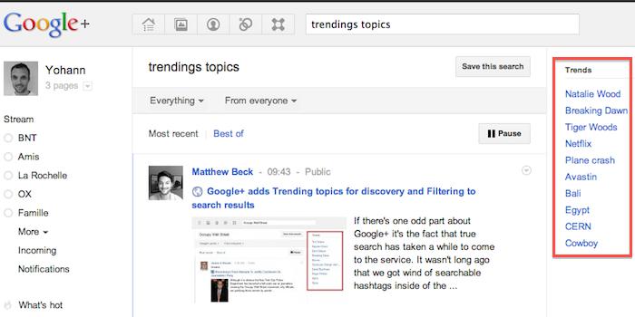 Google+ Pages : multi-admins et transfert de propriétaire - Trending topics dans Google+