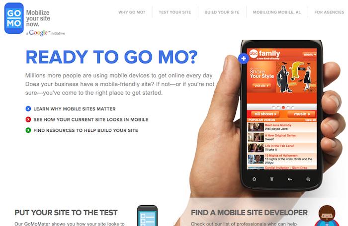Google part à la conquête du développement Web mobile - Site Go Mo