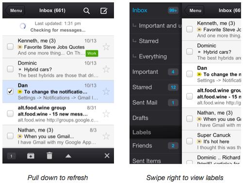 L'application Gmail pour iOS est disponible dès maintenant ! - GMail iPhone