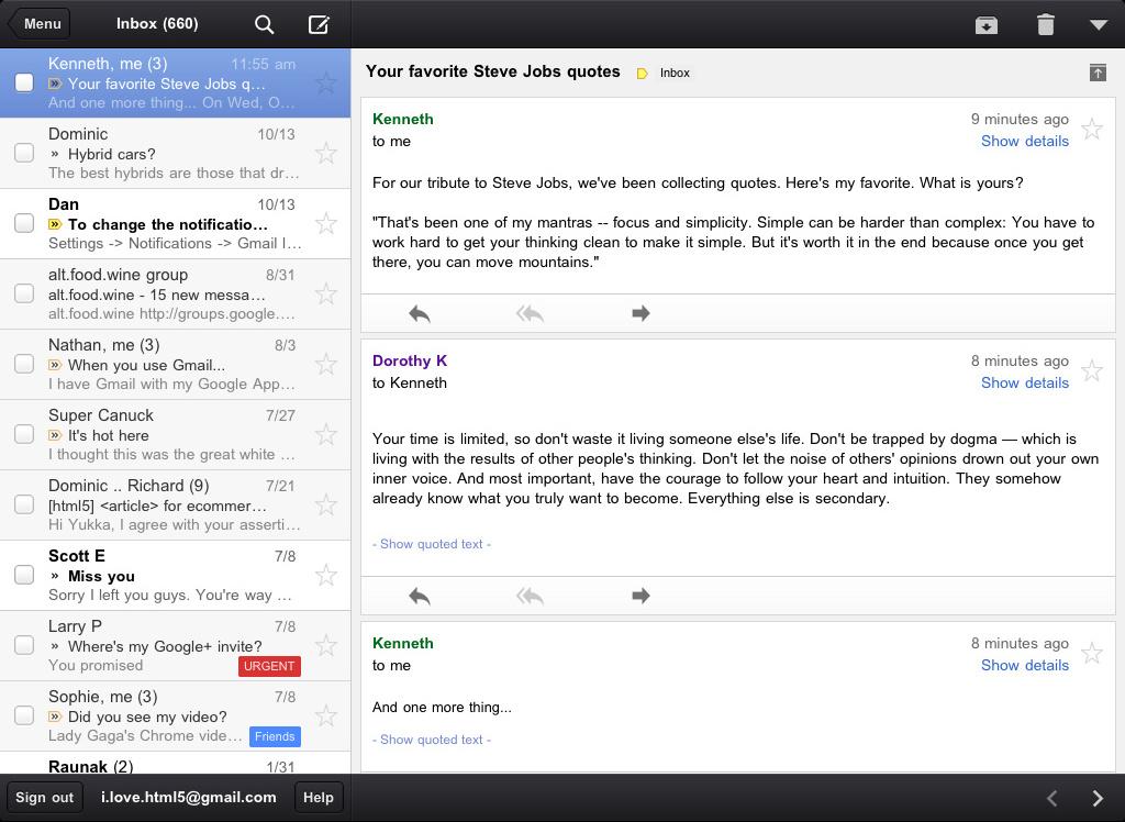 L'application Gmail pour iOS est disponible dès maintenant ! - GMail iPad