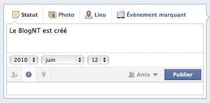 L'arrivée de la 'Timeline' Facebook est imminente... - Choix date d'horodatage
