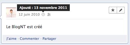 L'arrivée de la 'Timeline' Facebook est imminente... - Différencier un fait horodaté