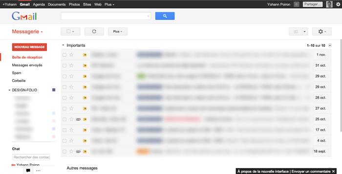 Le nouveau GMail est arrivé : thèmes HD, meilleure densité, recherche et navigation - Nouvelle interface Gmail