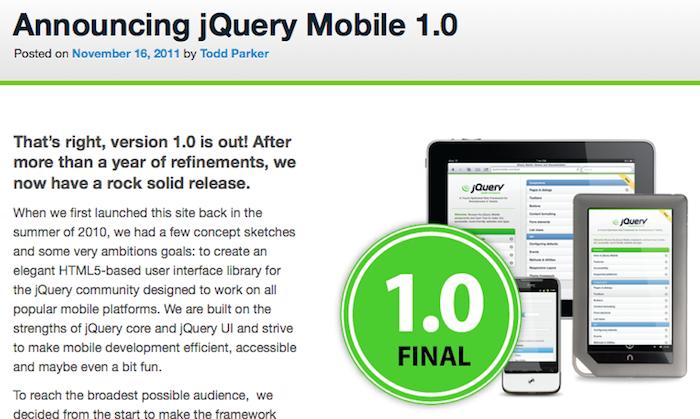 Les acteurs du Web en ont parlé [#16] - jQuery Mobile