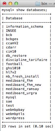 MySQL pour les débutants - Commande show databases