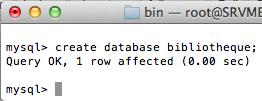 MySQL pour les débutants - Commande create database bibliotheque