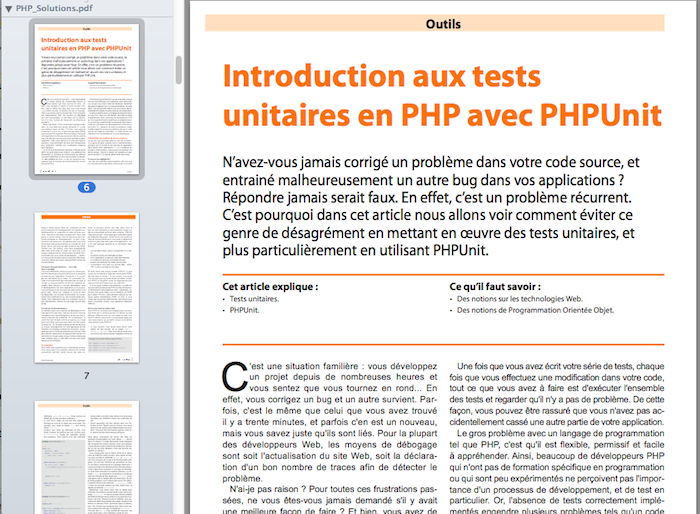 PHP Solutions - Novembre 2011 - Interactions entre Flash et PHP - Introduction aux tests unitaires en PHP avec PHPUnit