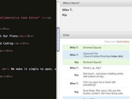 Squad : un éditeur de code collaboratif qui peut être utilisé en classe - Collaborer avec les autres en temps réel