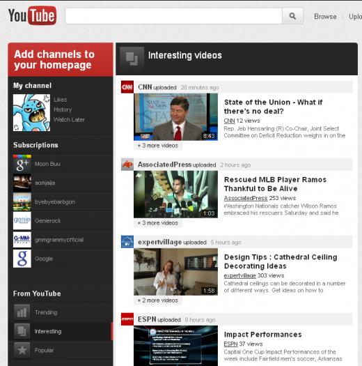 Youtube va lui aussi avoir sa refonte (Google+, abonnements, ...) ! - Nouvelle interface Youtube