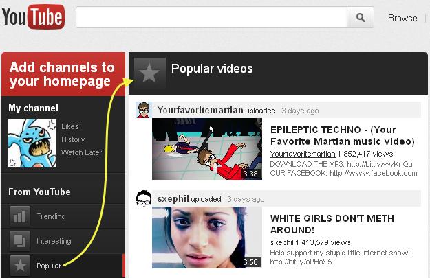 Youtube va lui aussi avoir sa refonte (Google+, abonnements, ...) ! - Contenu central