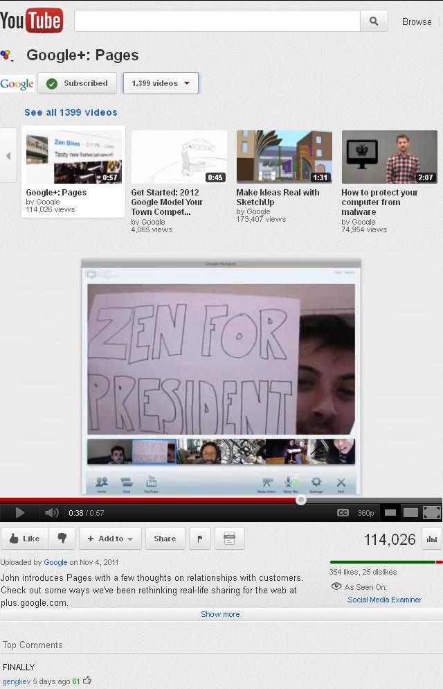 Youtube va lui aussi avoir sa refonte (Google+, abonnements, ...) ! - Gestion du mode fullscrean dans Youtube