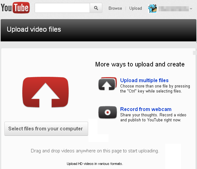Youtube va lui aussi avoir sa refonte (Google+, abonnements, ...) ! - Nouvelle interface de téléversement Youtube