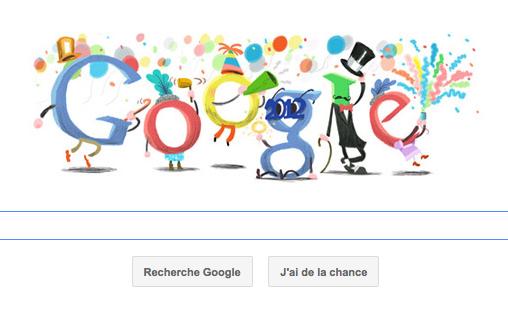 'Bonne année !' nous dit Google