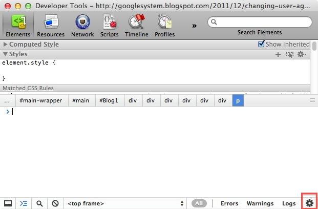 Changer l'user agent depuis Chrome !