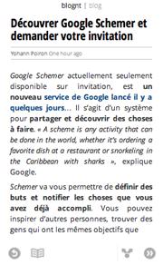 Comment bénéficier de Google Currents sur votre Android - Lecture d'un article après avoir cliqué sur le titre