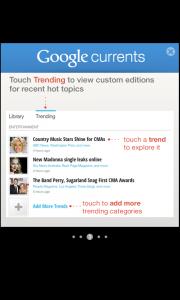 Comment bénéficier de Google Currents sur votre Android - Tutoriel 3 : Découvrez les Trending Topics