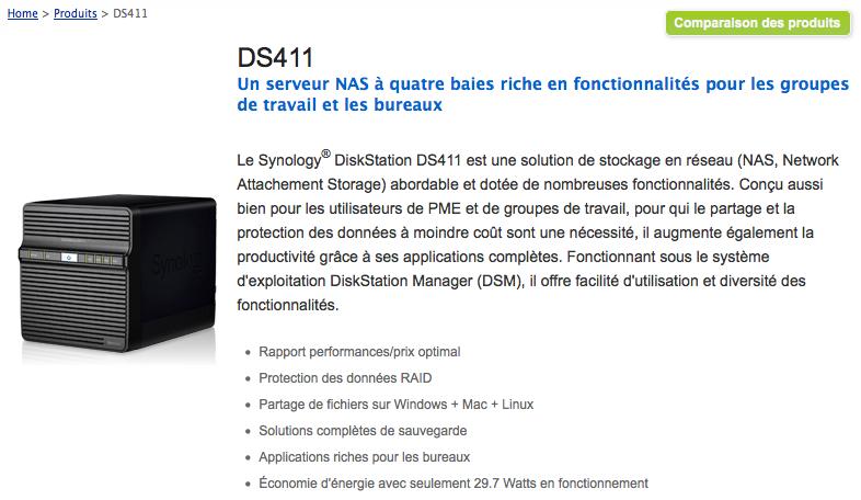 Concours Noël #5 : Un Synology DiskStation DS411 vous tente ? - Synology DiskStation DS411