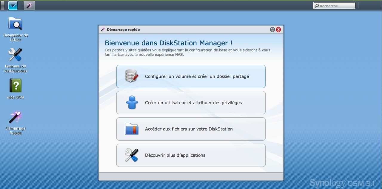 Découvrez le Synology DiskStation DS411 - Bienvenue dans DiskStation Manager