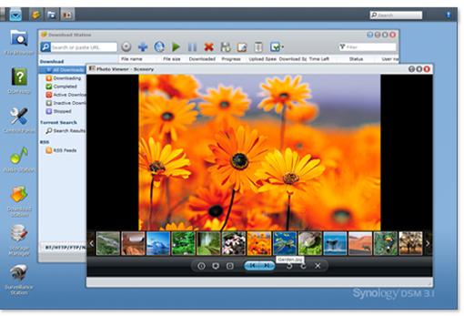 Découvrez le Synology DiskStation DS411 - Interface du DiskStation Manager