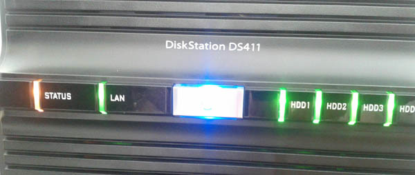 Découvrez le Synology DiskStation DS411 - Façade avant