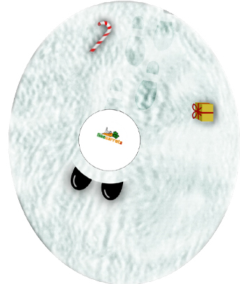 Déguisez votre Nabaztag pour les fêtes de fin d'année ! - Nabaztag en Père Noël avec socle