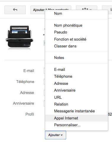 Google Contacts intégre désormais vos contacts Google+ - Ajout d'informations dans Google Contacts
