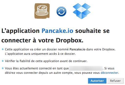 Héberger une page Web sur Dropbox avec Pancake.io - Configuration
