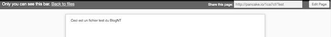 Héberger une page Web sur Dropbox avec Pancake.io - Partage d'un fichier
