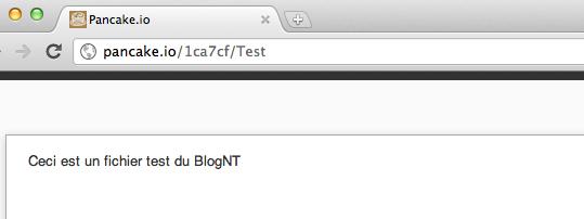 Héberger une page Web sur Dropbox avec Pancake.io - Consultation d'un fichier