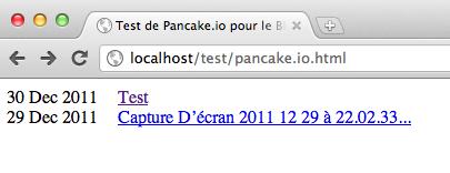 Héberger une page Web sur Dropbox avec Pancake.io - Listing des fichiers